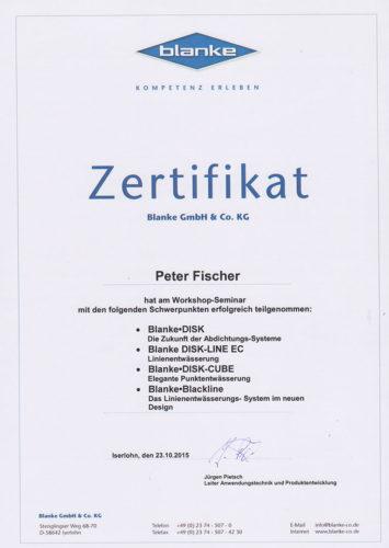 Zertifikat Blanke 2015