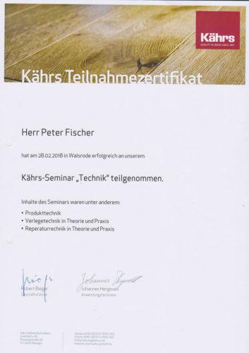Zertifikat Kaehrs Technik 2018