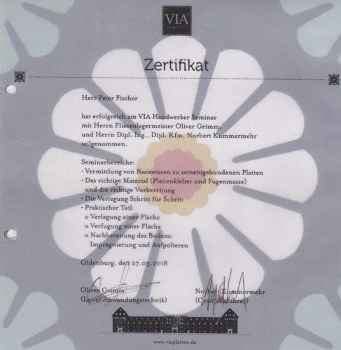 Zertifikat VIA Handwerker Seminar