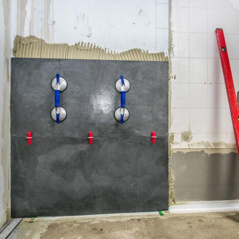 Badrenovierung Oldenburg Fliesenverlegung Bad Grossformatfliesen 08b