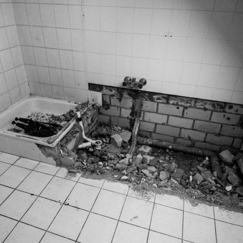 Badrenovierung Oldenburg Fliesenverlegung Bad Grossformatfliesen 23a